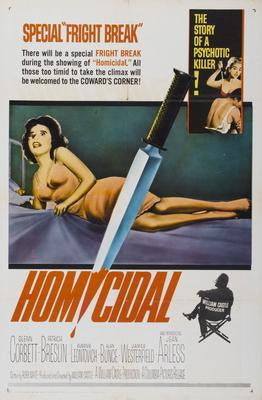 Homicidal Movie Poster 24x36 - Fame Collectibles