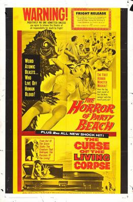 Horror Of Party Beach Movie Poster 24x36 - Fame Collectibles
