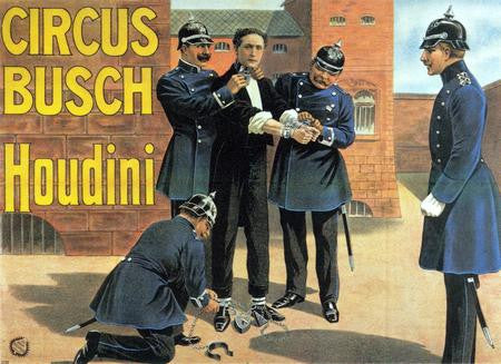 Houdini Poster Magic Art 24x36 - Fame Collectibles