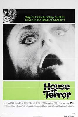 House Of Terror Movie Poster 24x36 - Fame Collectibles