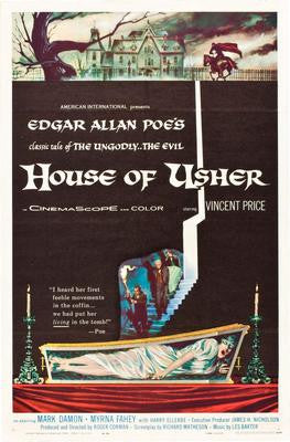 House Of Usher Movie Poster 24x36 - Fame Collectibles