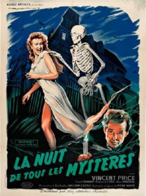 House On Haunted Hill Poster French 24inx36in - Fame Collectibles
