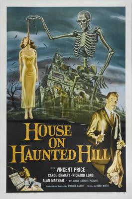 House On Haunted Hill Movie Poster 24x36 - Fame Collectibles