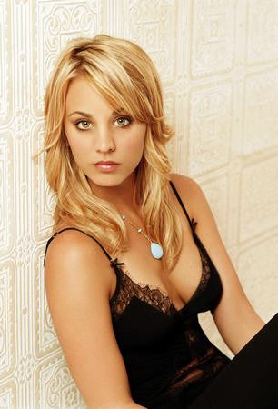 Kaley Cuoco Poster Black Dress Big Bang Theory 24x36 - Fame Collectibles