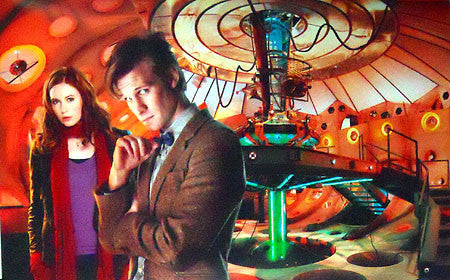 Dr. Who Matt Smith Karen Gillan Tardis Poster 23X35 24x36 - Fame Collectibles