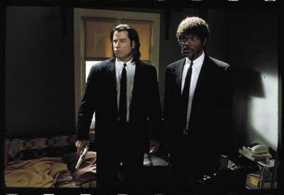 Pulp Fiction Travola Jackson Suits Movie Poster 24x36 - Fame Collectibles