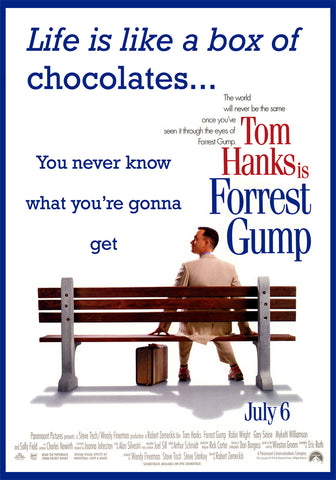 Forrest Gump Movie Poster Puzzle Choose a size