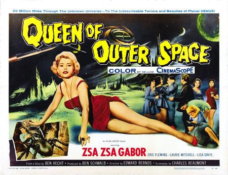 Queen Of Outer Space Poster movie art 24x36 - Fame Collectibles