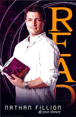 Nathan Fillion Read Poster Castle 24x36 - Fame Collectibles