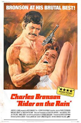 Rider On The Rain Charles Bronson Movie Poster 24x36 - Fame Collectibles