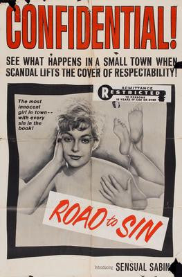 Road To Sin Movie Poster 24x36 - Fame Collectibles