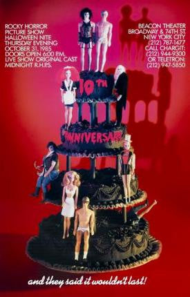 Rocky Horror Picture Show Movie Poster Wedding Cake 24x36 - Fame Collectibles