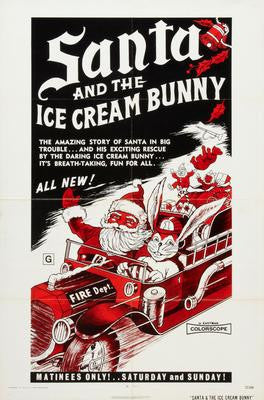 Santa And The Ice Cream Bunny Movie Poster 24x36 - Fame Collectibles