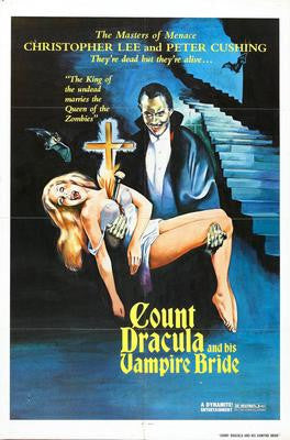 Count Dracula And His Vampire Bride Movie Poster 24x36 - Fame Collectibles