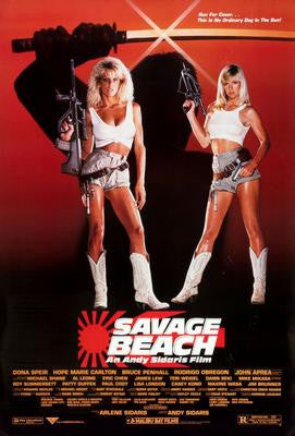 Savage Beach Movie Poster 24x36 - Fame Collectibles