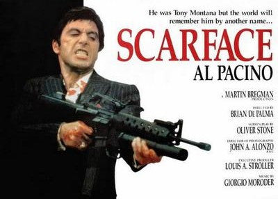 Scarface Quad Style Movie Poster 24x36 - Fame Collectibles