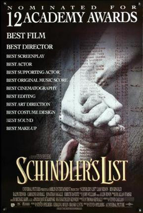 Schindlers List Movie Poster 24x36 - Fame Collectibles