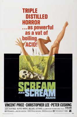 Scream And Scream again Movie Poster 24x36 - Fame Collectibles