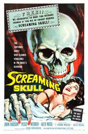 Screaming Skull Movie Poster 24x36 - Fame Collectibles
