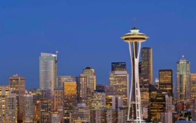 Seattle Skyline Poster 24in x 36in - Fame Collectibles