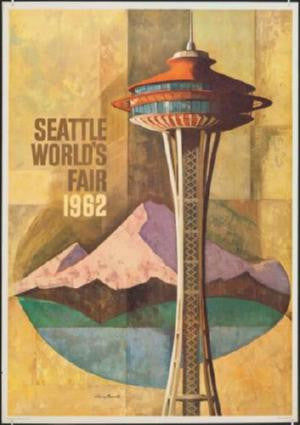 Seattle Worlds Fair Poster 24in x 36in - Fame Collectibles
