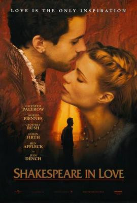 Shakespeare In Love Movie Poster 24x36 - Fame Collectibles