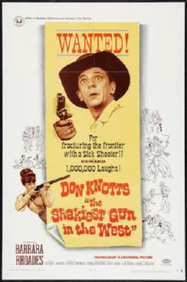 Shakiest Gun In The West Movie Poster 24in x 36in - Fame Collectibles