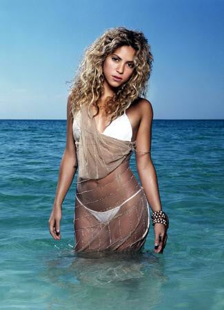 Shakira Poster white bikini 24x36 - Fame Collectibles