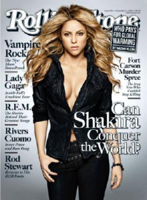 Shakira Poster Rolling Stone Cover 27inx36in 24x36 - Fame Collectibles