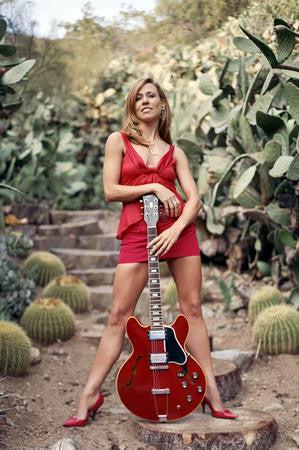 Sheryl Crow Poster sexy red guitar 24x36 - Fame Collectibles