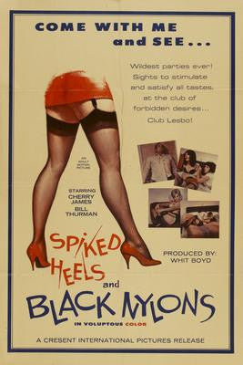 Spiked Heels And Black Nylons Movie Poster 24x36 - Fame Collectibles