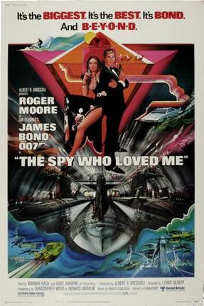 Spy Who Loved Me The Movie Poster James Bond 24x36 - Fame Collectibles