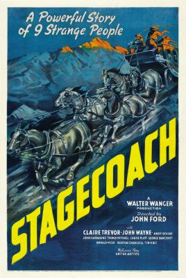 Stagecoach Movie Poster 24x36 - Fame Collectibles