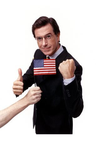 Stephen Colbert Poster Fist Flag 24x36 - Fame Collectibles