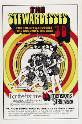 Stewardesses In 3D Movie Poster 24x36 - Fame Collectibles