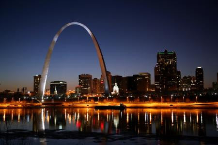 St.Louis Missouri Arch Poster 24x36 - Fame Collectibles