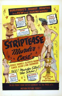 Striptease Murder Case Movie Poster 24x36 - Fame Collectibles