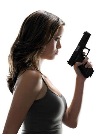 Summer Glau Poster gun 24x36 - Fame Collectibles