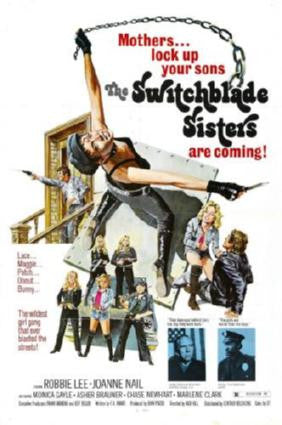 Switchblade Sisters Movie Poster 24in x 36in - Fame Collectibles