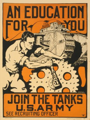 War Propaganda Poster 24x36 tanks 24x36 - Fame Collectibles