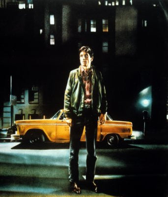 Taxi Driver Movie Poster 24x36 textless art 24x36 - Fame Collectibles