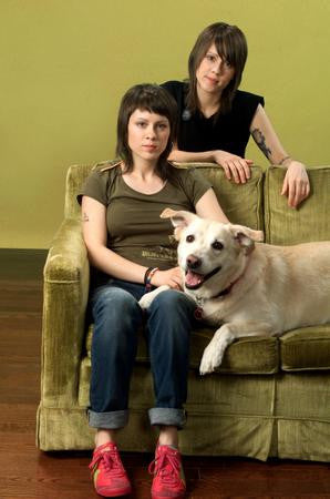 Tegan And Sara Poster Couch and Dog 24x36 - Fame Collectibles