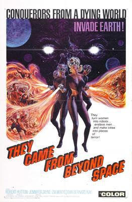 They Came From Beyond Space Movie Poster 24x36 - Fame Collectibles