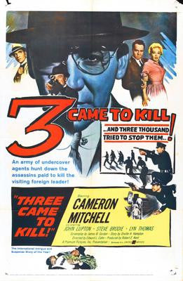 Three 3 Came To Kill Movie Poster 24x36 - Fame Collectibles