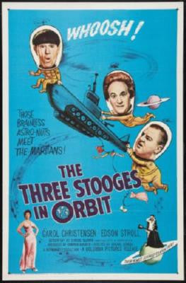Three Stooges In Orbit Movie Poster 24in x 36in - Fame Collectibles