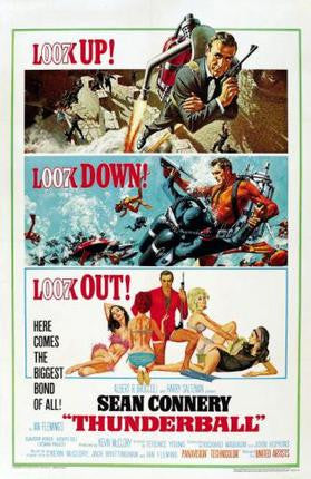 Thunderball Movie Poster James Bond 24x36 - Fame Collectibles