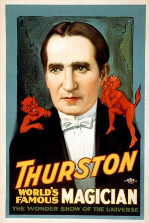 Thurston Magic Poster magician 24x36 - Fame Collectibles