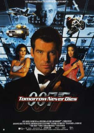 Tomorrow Never Dies Movie Poster James Bond 24x36 - Fame Collectibles
