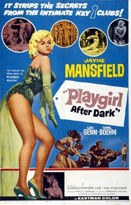 Playgirl After Dark Jayne Mansfield Movie Poster 24x36 - Fame Collectibles