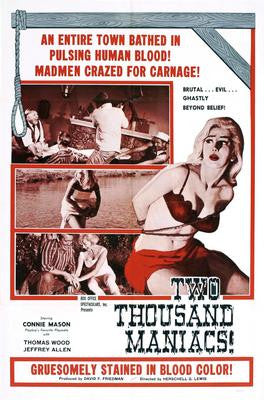 Two Thousand Maniacs Movie Poster 24x36 - Fame Collectibles
